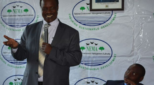 Sam Cheptoris, the Minister of Water and Environment