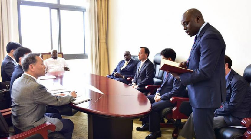 President Museveni meeting with officials from South Korea's Zion Company Limited