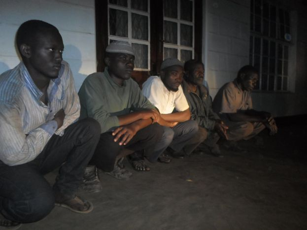 Some of the encroachers paraded at Hoima police