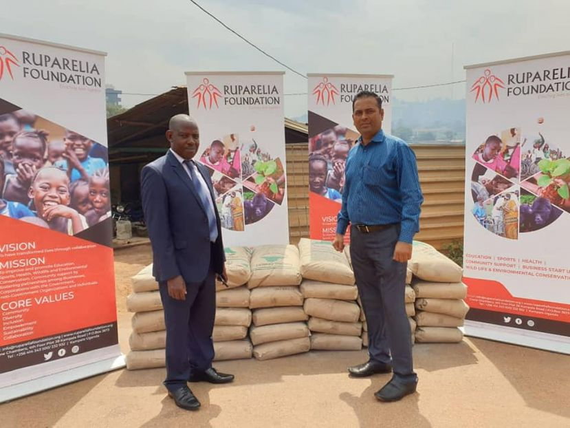 Ruparelia Foundation Donates Cement To Archdiocese Of Mbarara