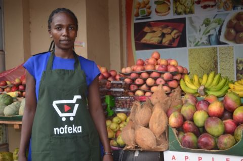 A groceries retailer for Nofeka besides her merchandise