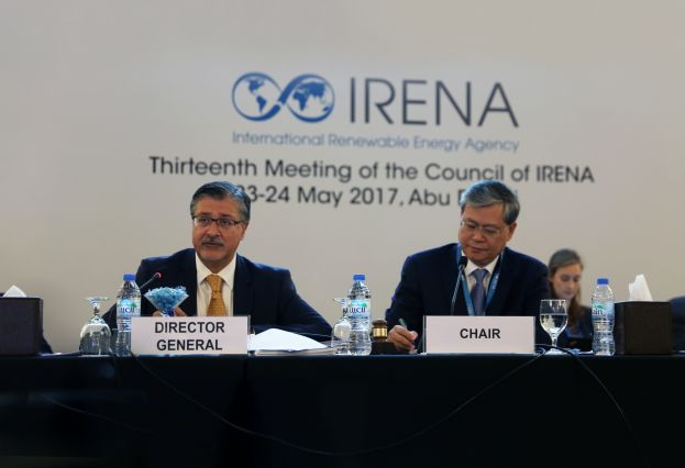 IRENA Director-General, Adnan Z. Amin and 13th Council Chair and Deputy Administrator of the National Energy Administration of China, Mr. Li Fanrong.