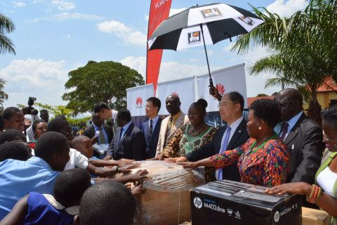 Kadaga Lauds Huawei For Improving Education In Busoga