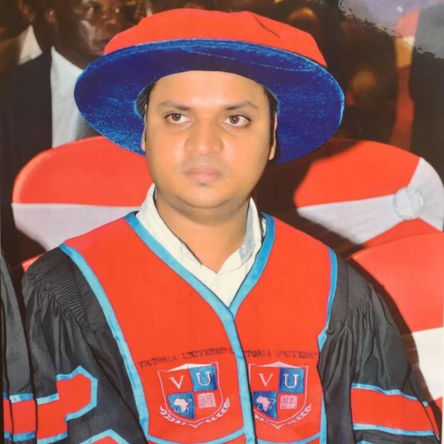 Dr Krishna N. Sharma , the Vice-Chancellor for Victoria University in Kampala