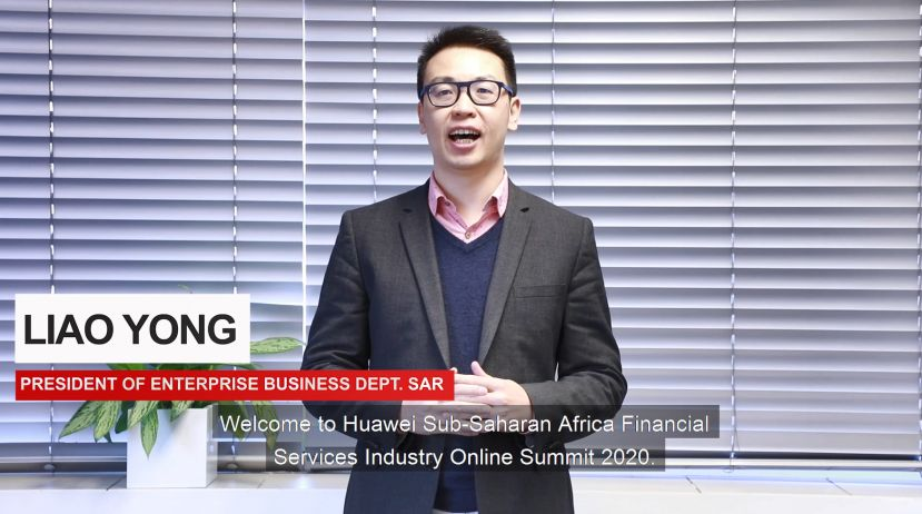 Liao Yong, vice president of Huawei Southern Africa Region