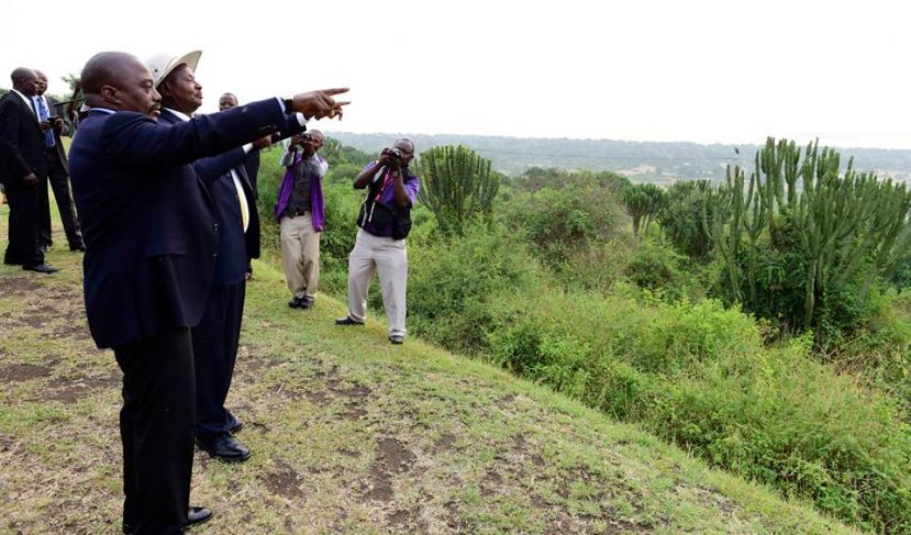 President Museveni and his counterpart Joseph Kabila enjoying beautiful scenery in Western Uganda recently