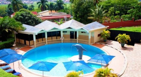 You can learn how to swim at this swimming pool at Dolphin Suites in Bugolobi