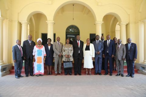 Group Picture Of the EDT Members, Minister and Chief Justice at the High Court
