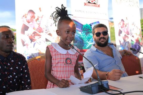 Felista, 7, is the youngest female rapper and will now join Kampala Parents school