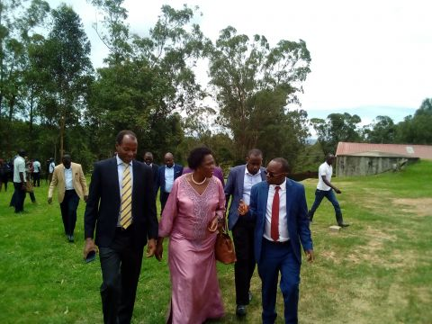 Mbarara district chairperson, minister Beatrice Anywar and Dr. Arthur Bainomugisha after tree at Lake View Hotel at the closure of the symposium