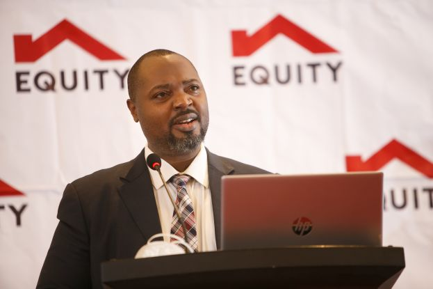 Anthony Kituuka, Executive Director- Equity Bank (U) Ltd addresses agribusiness owners at the Equity Agribusiness Forum Breakfast Meeting held at Sheraton Kampala Hotel recently.