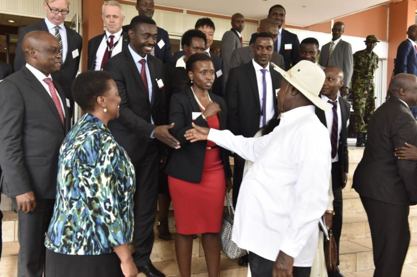 President Museveni at a previous Uganda International Oil & Gas Summit