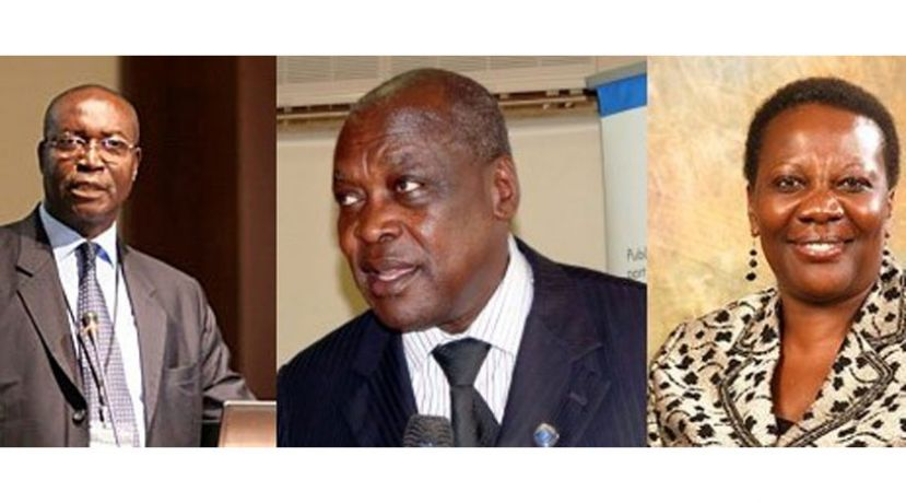 Irene Muloni (R), Peter Lokeris (M) and Simon D'Ujanga (L) have retained their positions in the energy and minerals ministry