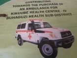 President Museveni while on a campaign trail in Bunyoro promised to buy an ambulance like this one
