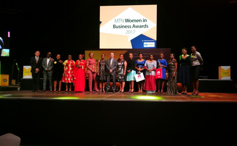 The Winners of the MTN Women in Business awards 2017.