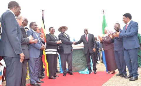 Musevenu was in Tanzania to launch the construction of the pipeline