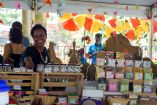 A woman sells an assortment of products at last years carnival