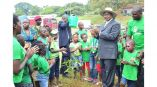 Uganda's Little Hands Go Green have worked with president Yoweri Museveni and the kids to protect environment through planting trees