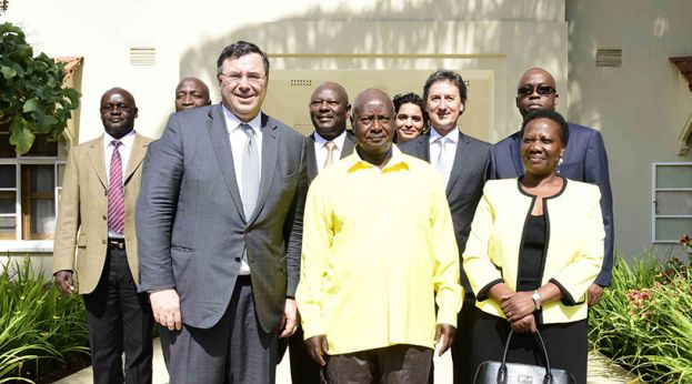 Patrick Pouyanné met President Museveni when he came to Uganda