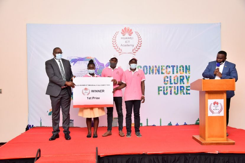 Huawei Uganda has today awarded three students who represented Uganda in the Huawei ICT global competition Africa stage.