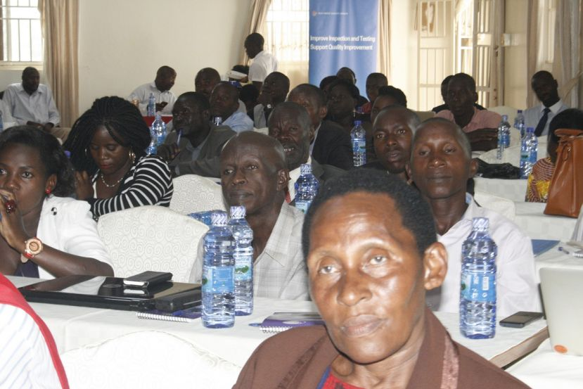 Some of the farmers that attended the meeting in Hoima