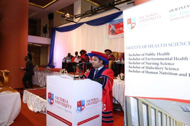 The Vice Chancellor speaking at the third graduation ceremony of Victoria University