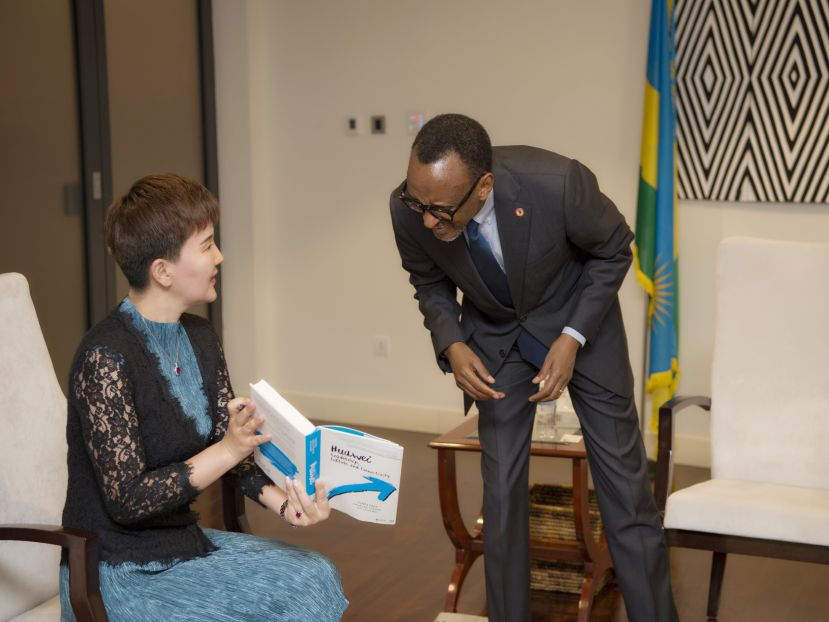 Rwanda President Paul Kagame is willing to work with Huawei