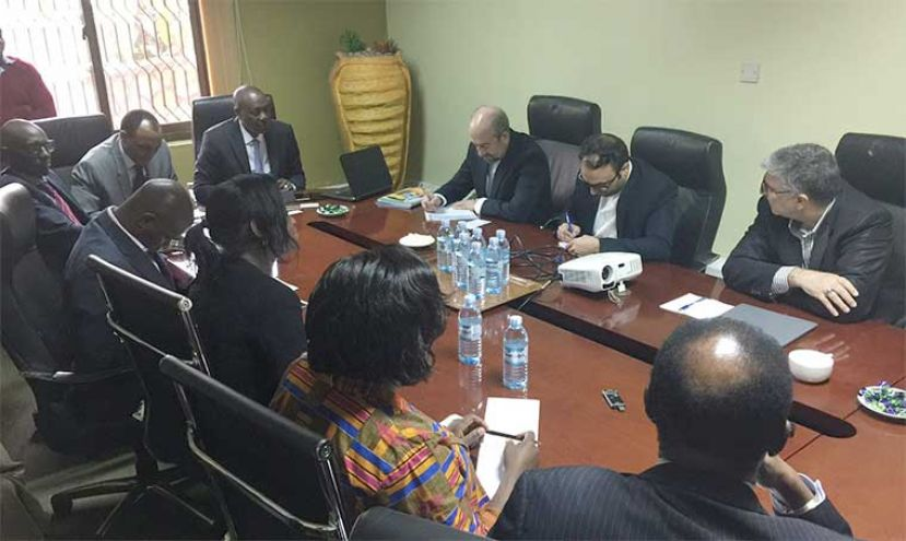 Uganda Chamber of Mines and Petroleum met with the Iranians in Kampala