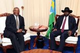 President Cyril Ramaphosa and President Salva Kiir Mayardit of South Sudan