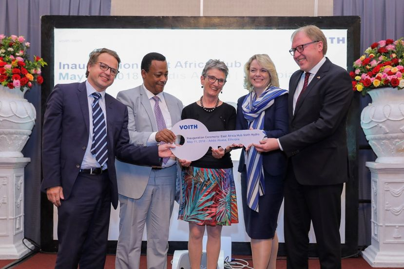 Symbolic hand-over of the key for the new Voith Hydro East Africa Hub in Addis Ababa, Ethiopia.