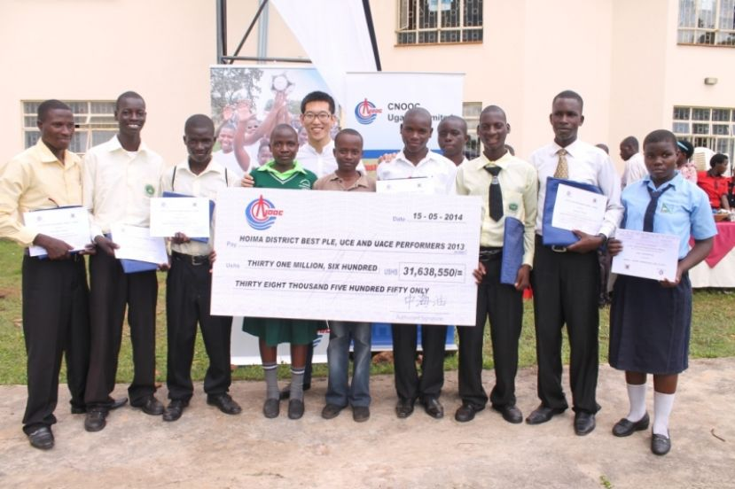Oil companies like CNOOC have been helping to boost education progress in Bunyoro
