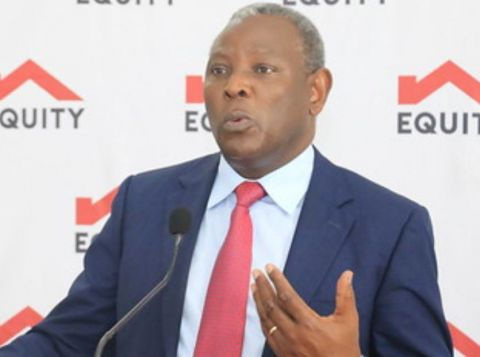 Equity Group Managing Director and CEO Dr. James Mwangi during the release of Equity Group's Full Year 2020 results.