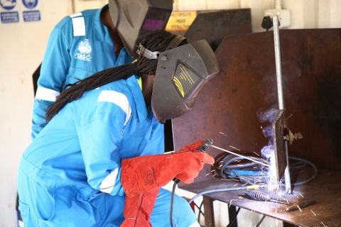 While many women have trained and acquiredd skills like welding, oil companies have excluded them when it comes to employmnet opportunitiies.