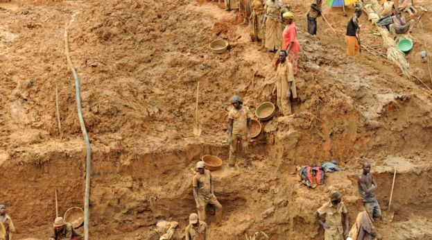 Mining in Uganda is dominated by artisanal miners using rudimentary methods