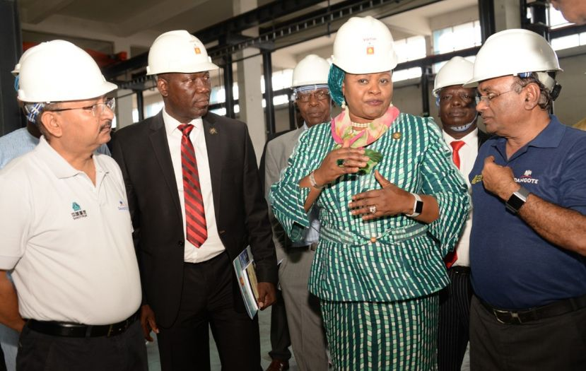 Dangote Sinotruk West Africa Limited and government officials tour Dangote Sinotruk Assembly plant in ikeja Lagos