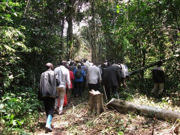 Encroachers who had encroached on Kasongoire central forest reserve have voluntarily vacated it