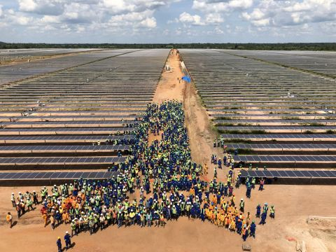 Construction work on Mozambique's first large-scale solar facility