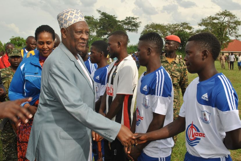 The King Shaking Hands With The Prayers Of Bugangaizi  West Players