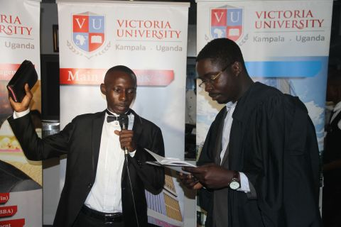 Peter Isiko swearing in as guild president last year
