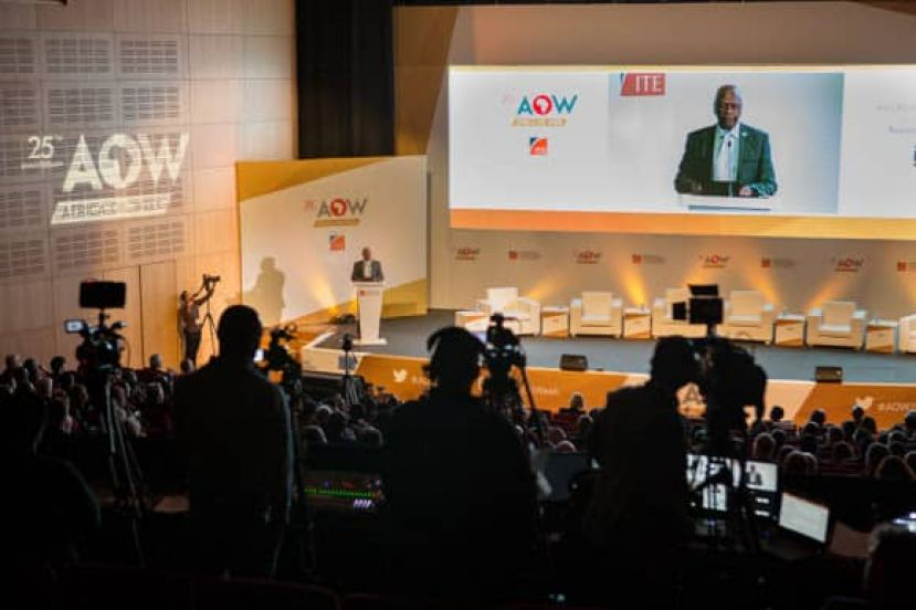 A presentation at the Africa Oil Week in Cape Town, South Africa