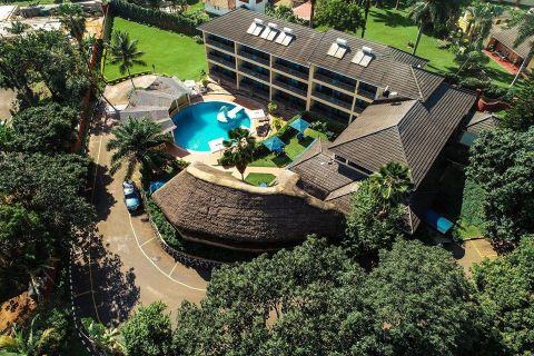 Dolphin Suites is a beautiful hotel complex nestled in the peaceful neighbourhood of Bugolobi,Princess Anne Drive.