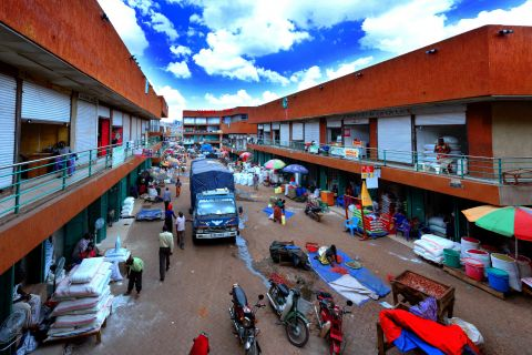 An aerial view of Nakayiza Market in Kisenyi