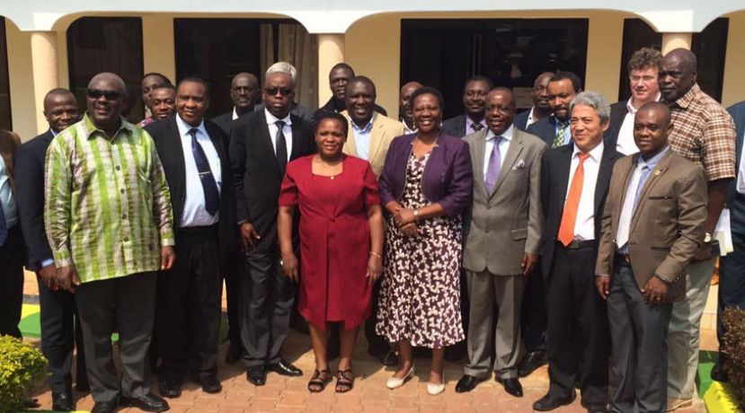 The technical team that discussed the Uganda-Tanzania Crude Export Pipeline at Miika Eco Hotel in Hoima