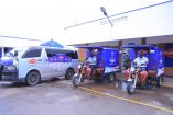 Henry Samanya, Sales Manager Fresh Dairy and (R) Vincent Omoth, Marketing Manager Fresh Dairy launch the expanded fleet of tricycle Tuk Tuks and Mobile vans to boost free home delivery services for both Fresh Dairy and Brookside products. This is aimed at ensuring that consumers remain safe and healthy, while enjoying the greater convenience of door to door product transportation.