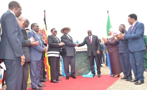 President Museveni and Magufuli launch EACOP in Hoima recently